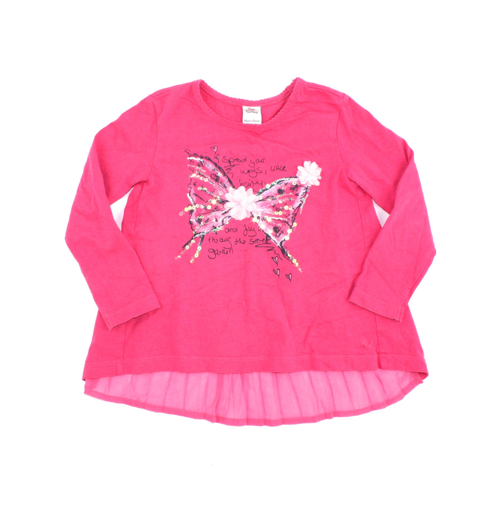 S. Oliver top, pink top for girls, butterfly top
