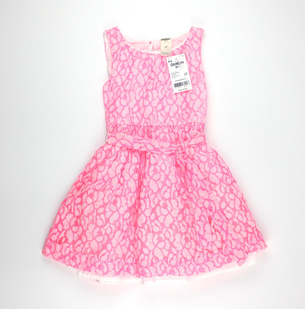 OshKosh dress, pink dress for girls, lace dress for girls