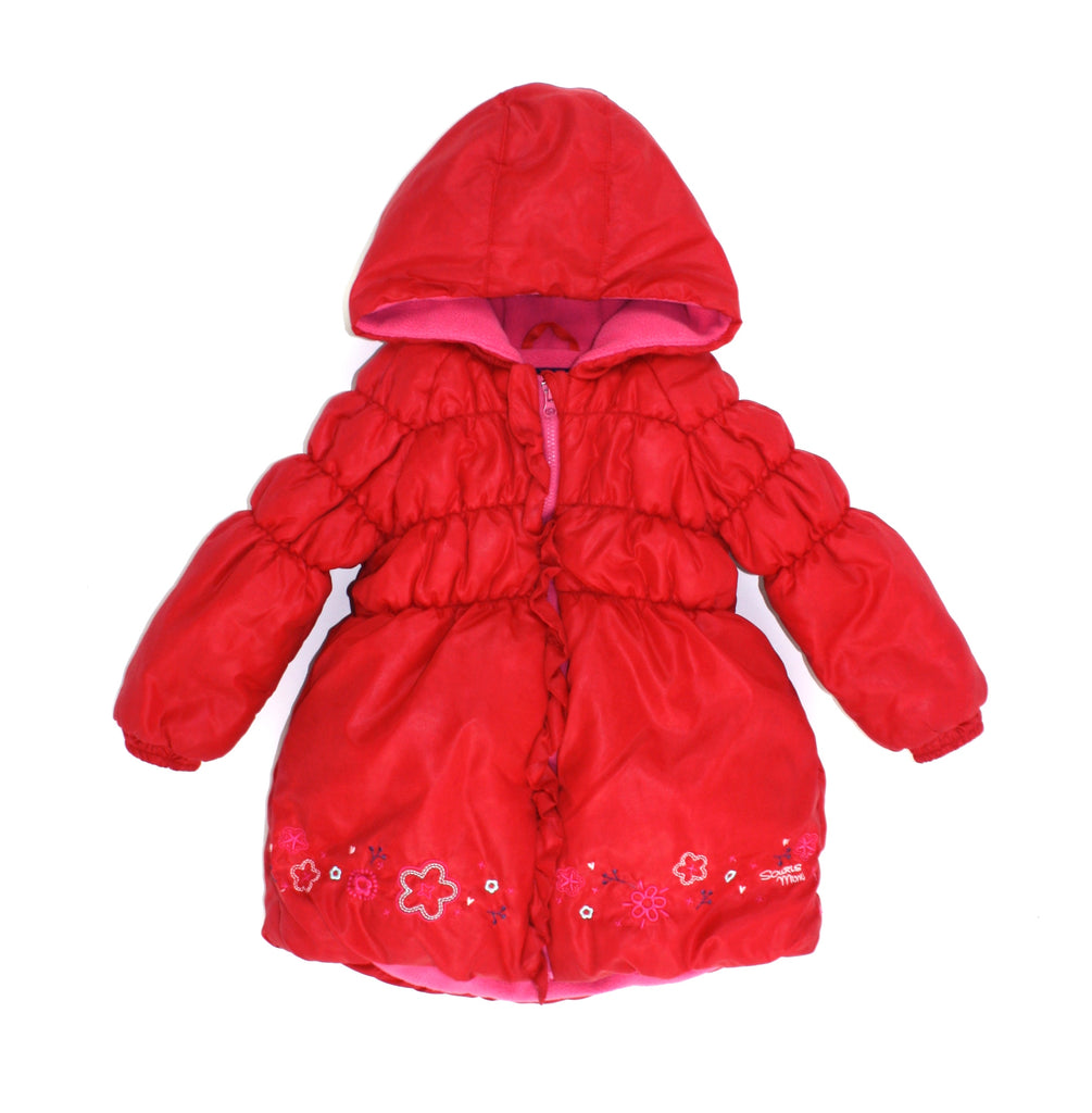 coat for girls, red coat, Souris Mini jacket, Souris Mini coat, winter coat for girls, girls outerwear