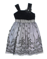 Bloome de Jeune Fille dress, black and silver dress, special occasion dress