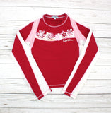 Ungava rashguard, swim top, swim shirt, rashguard for girls, red rashguard