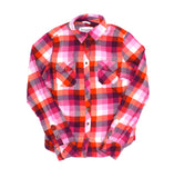 Aéropostale for girls, pink shirt, plaid shirt for girls