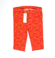 Petit Lem pants, orange pants, orange and pink, capri pants