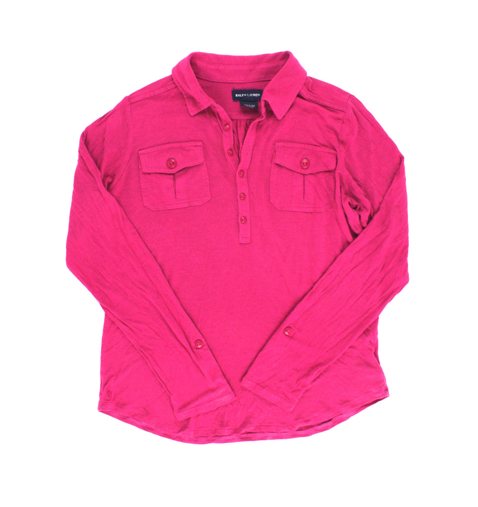 Ralph Lauren top, fuchsia top, girls, Ralph Lauren girls, second hand Ralph Lauren