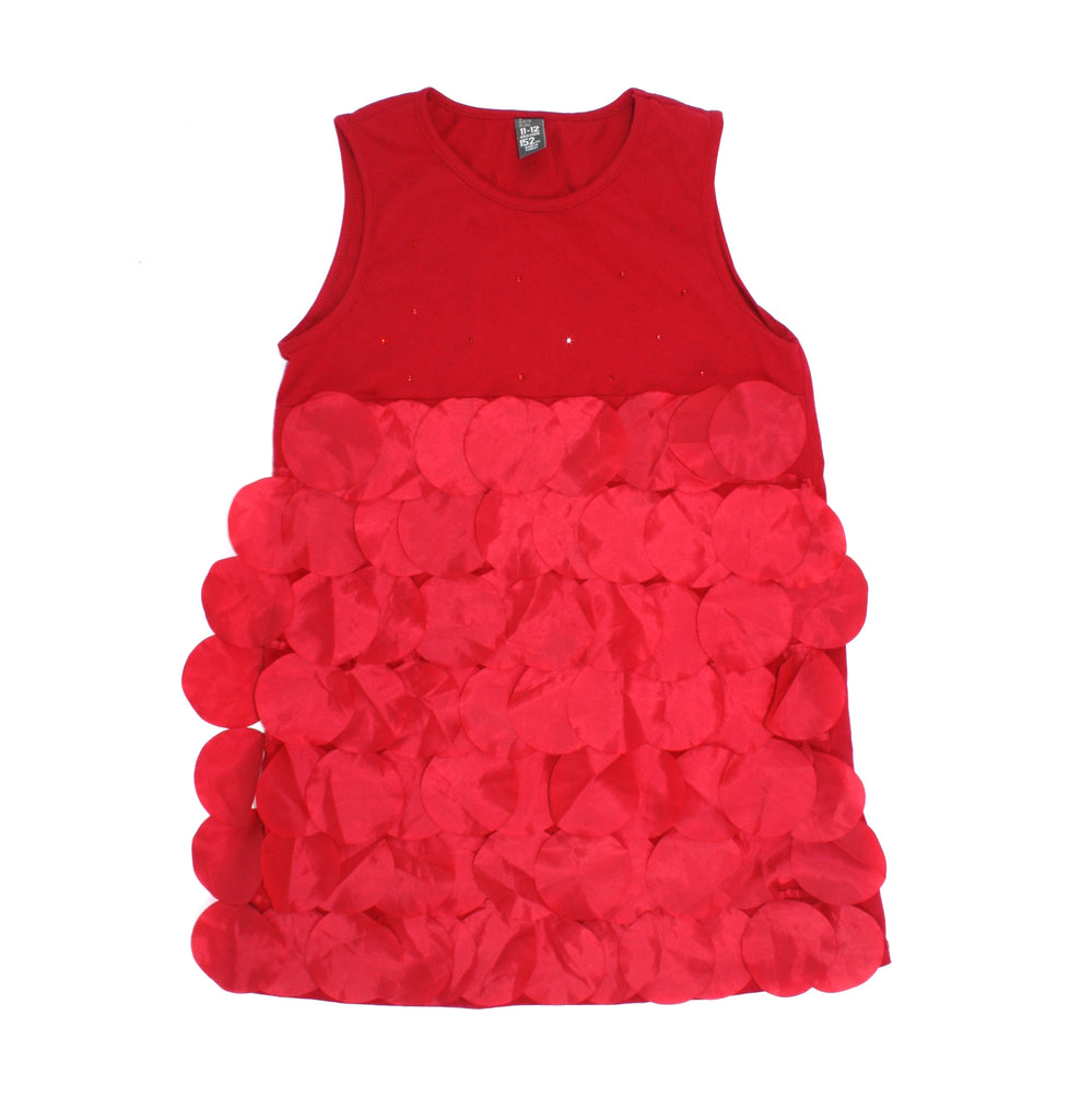 Zara top, Zara Girls, red flap top, ruffle top