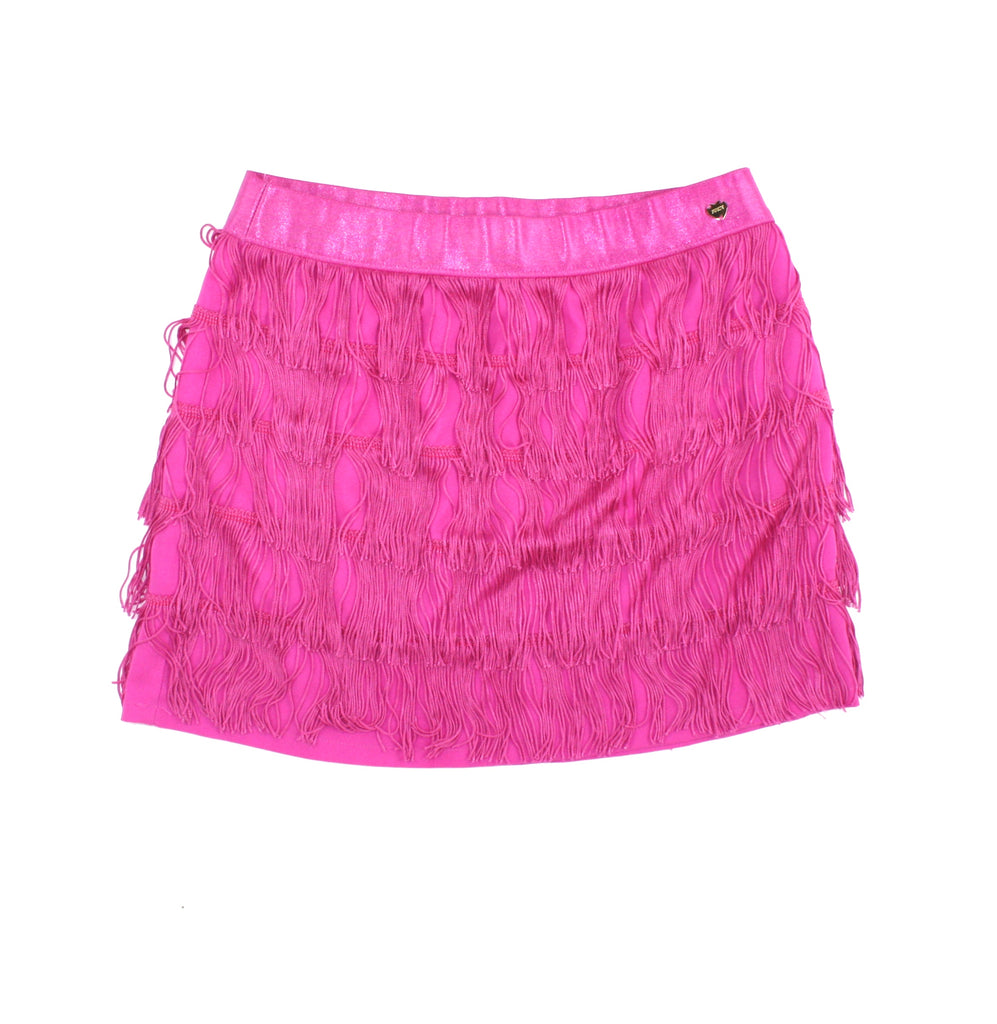 flapper skirt, fringe skirt, Juicy Couture skirt, pink skirt, girls skirt