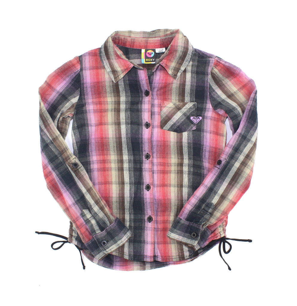 Roxy shirt, plaid shirt, girls shirt, Roxy girls