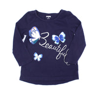 Gymboree t-shirt, navy t-shirt, butterfly t-shirt