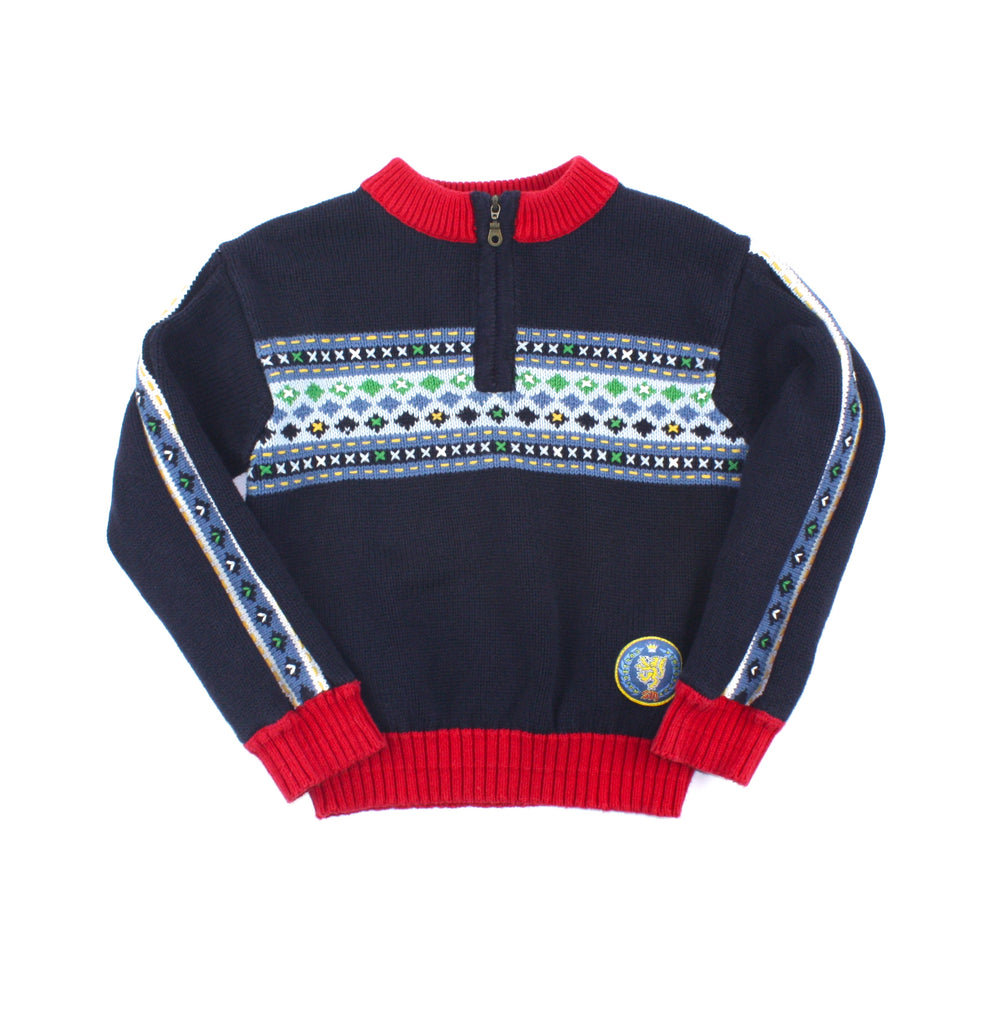 Souris Mini sweater, Souris Mini boys, navy sweater, sweater for boys