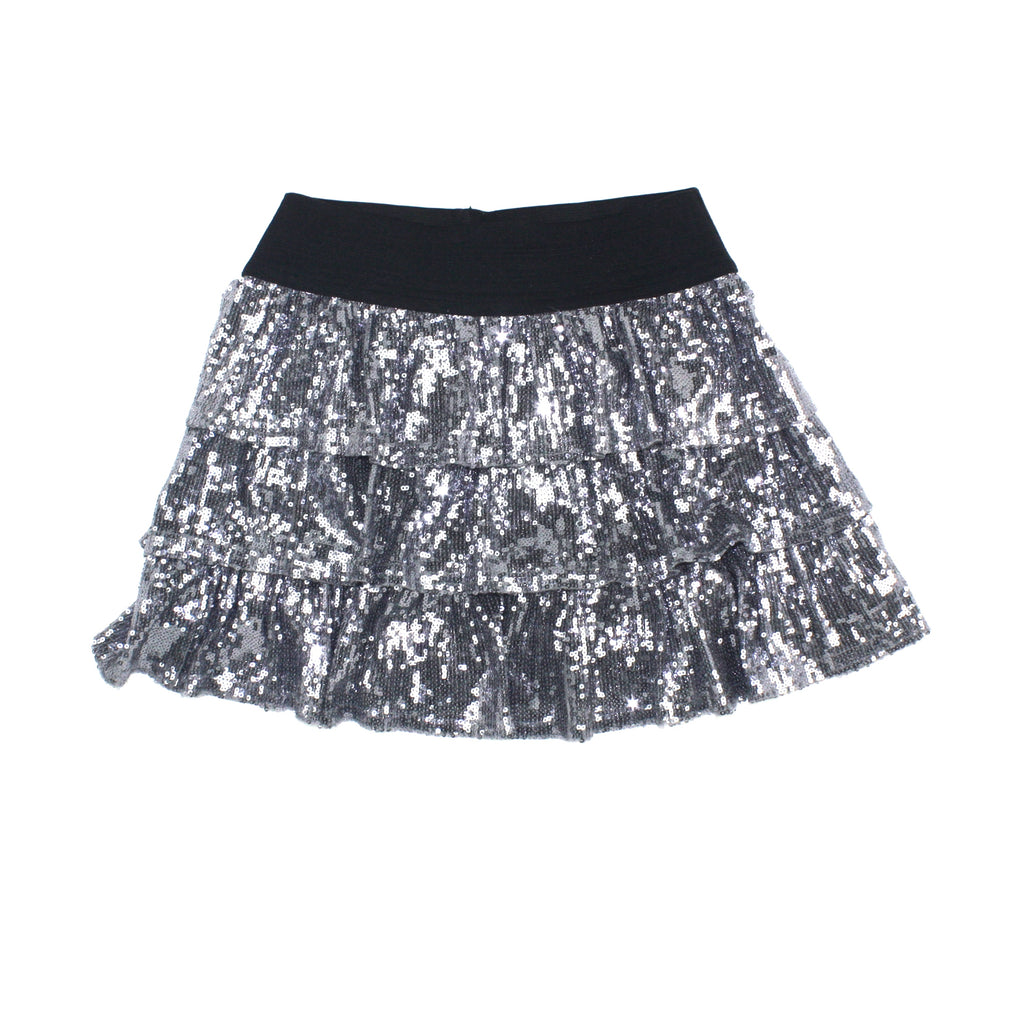 Children's Place skirt, sequin skirt, silver skirt, Christmas skirt