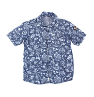blue shirt, Mexx shirt, Mexx for boys, Hawaiian shirt