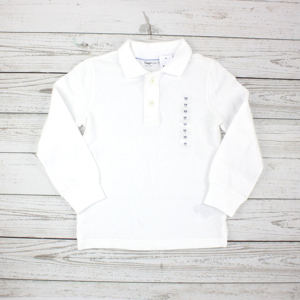 polo shirt, school shirt, GapKids polo, white polo