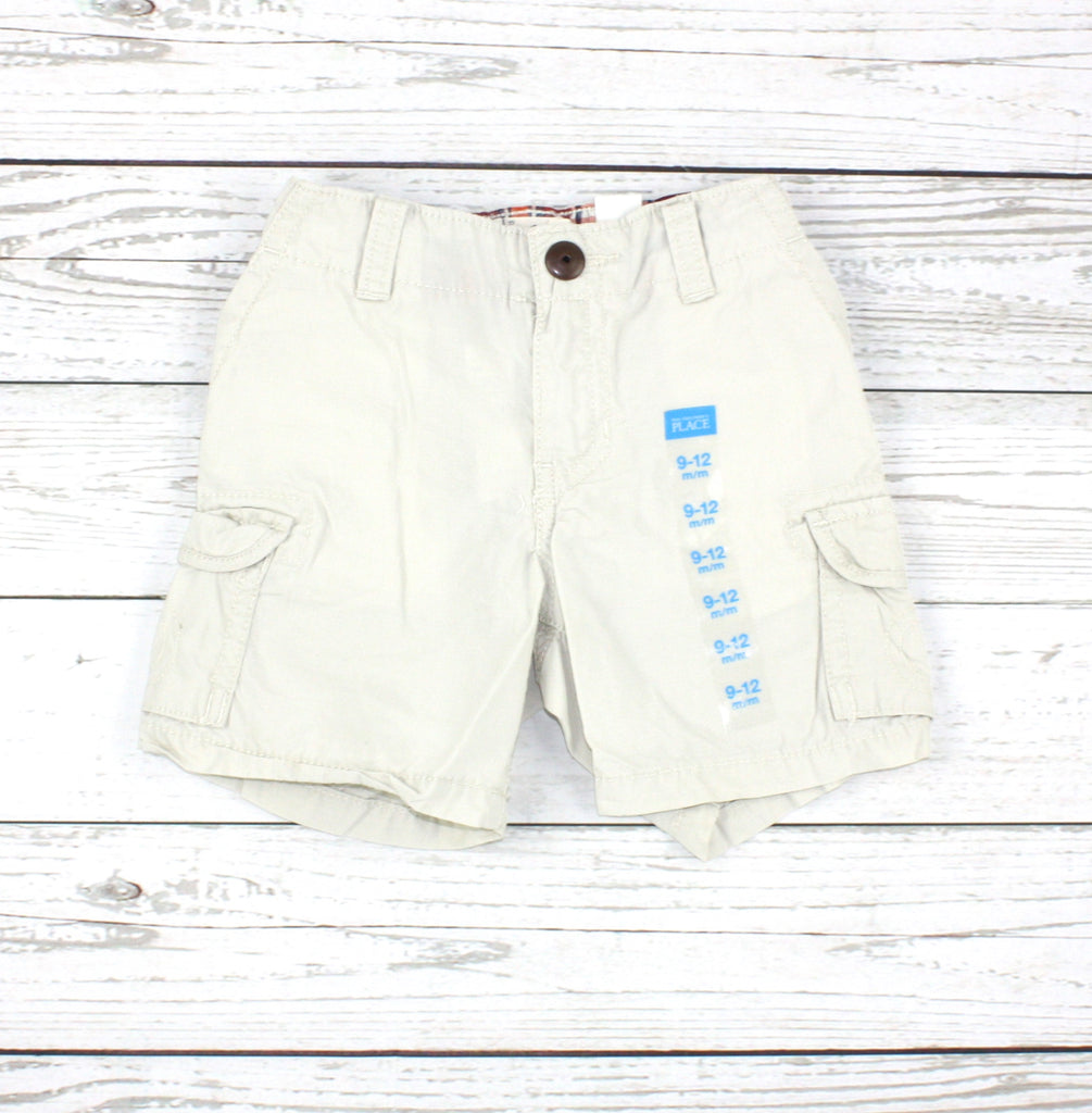 Children's Place shorts, baby shorts, cream shorts, cargo shorts