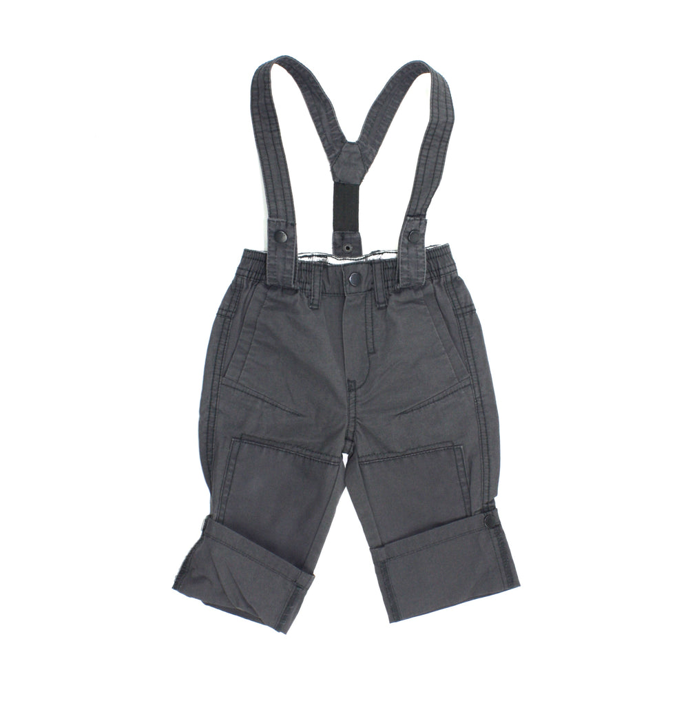 baby pants, Mexx baby pants, grey pants, pants with suspenders