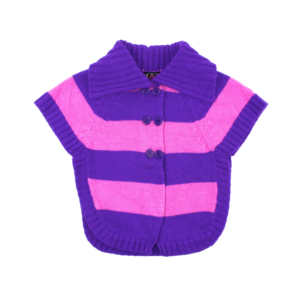 Real Love cardigan, pink and purple sweater, pink and purple cardigan