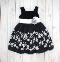 Bloome de Jeune Fille, black and white dress, girls formal dress