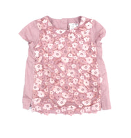 Max Studio Baby blouse, pink floral blouse