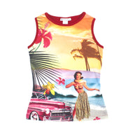 hawaiian t-shirt, hawaiian tank top, tank top for girls