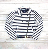 GapKids sweater, GapKids jacket, nautical jacket, striped sweater