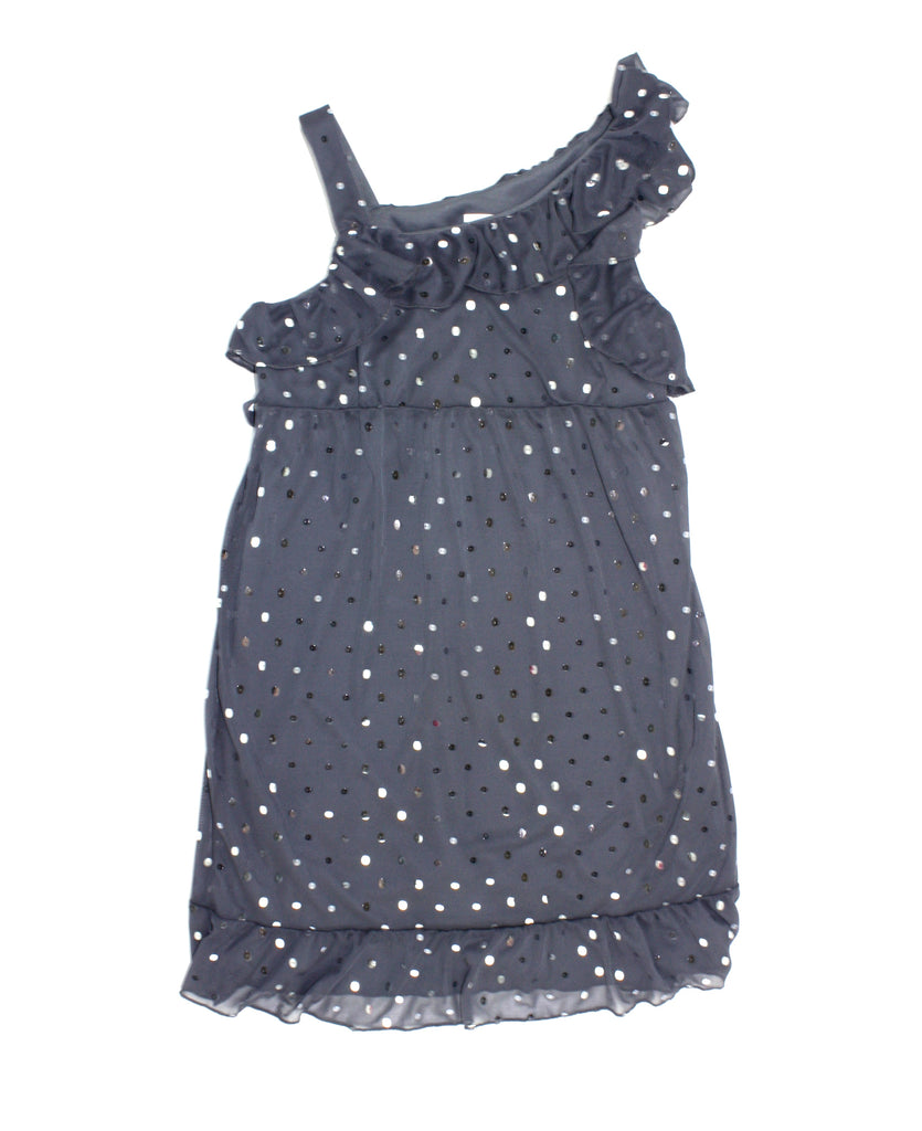 Justice dress, grey dress, sparkly dress, sequin dress