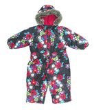 Belle Neige, snowsuit, snow suit, floral outerwear, floral snowsuit
