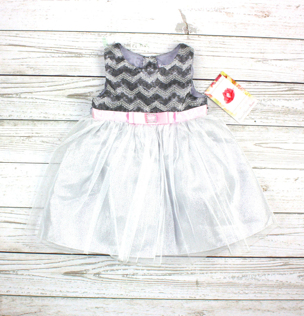 Sweet Heart Rose, silver dress, dress for baby