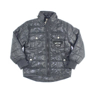 grey jacket, boys jacket, fall jacket, quilted jacket