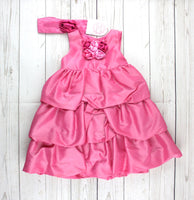 Maggie & Zoe dress, pink dress for girls, fancy dress