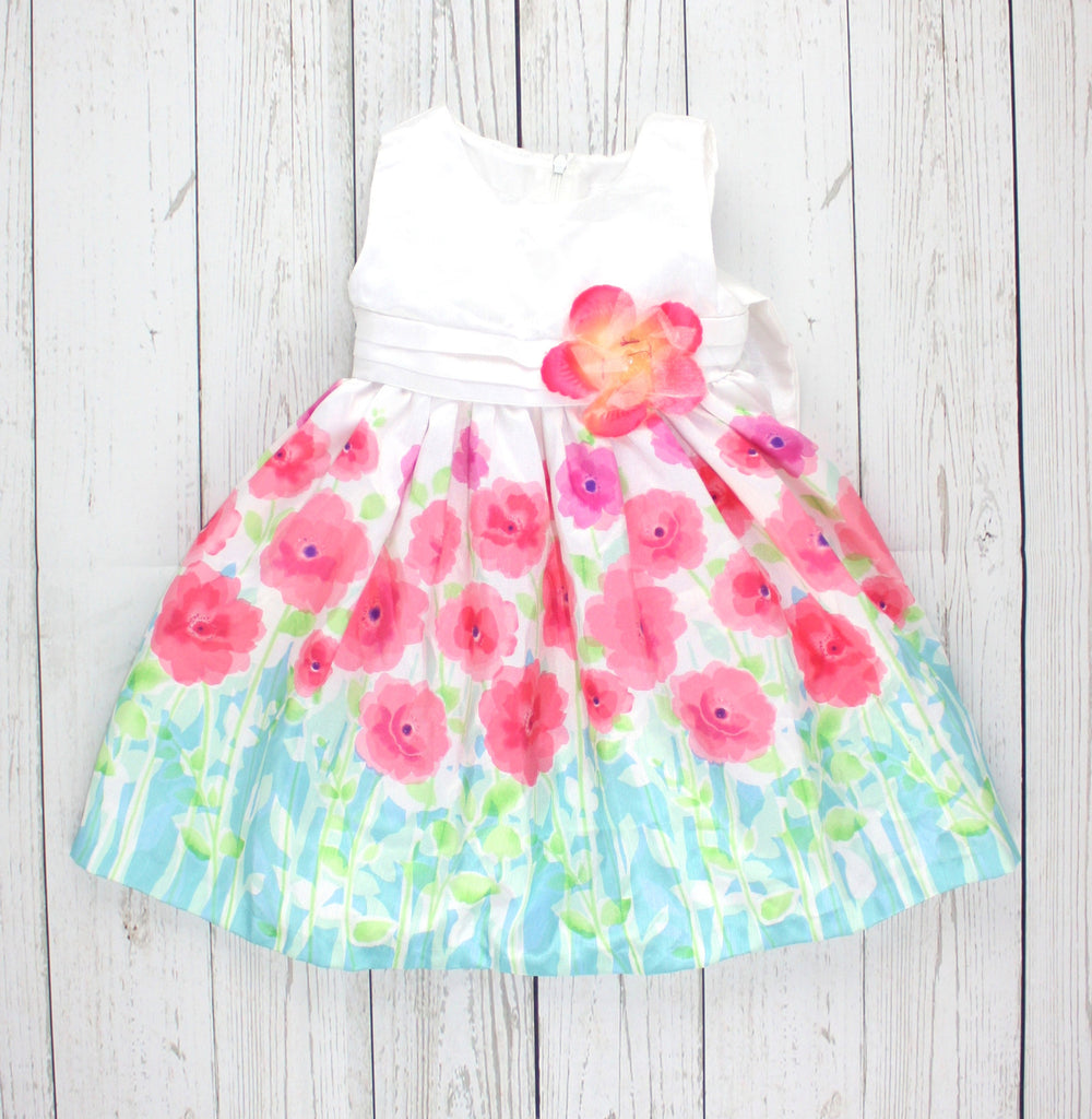 Marc & Maddie dress, formal dress for girls, floral girls dress