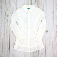 Blü shirt, cream blouse, cream shirt, shirt for girls