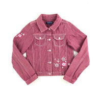 Souris Mini jacket, jean jacket, pink jacket, pink denim, girls jean jacket, embroidered jacket