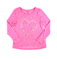 Children's Place sweater, girls sweater, heart sweater, pink sweater