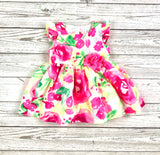 Children's Place dress, baby dress, floral dress, girls dress, easter dress