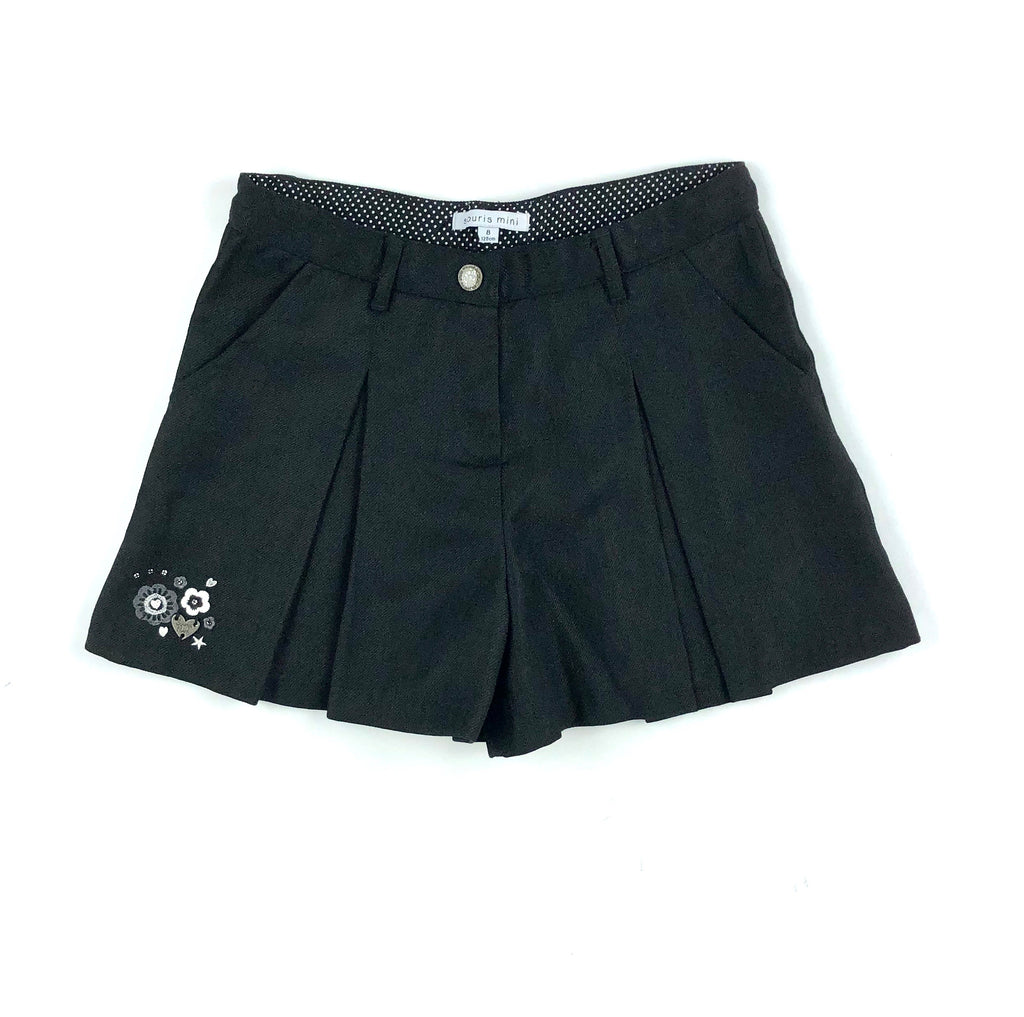 Souris Mini skort, girls skort, black skort