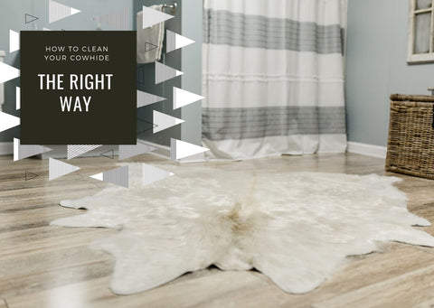 How to clean a cowhide - the right way!