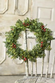 Boxwood Berry Wreath