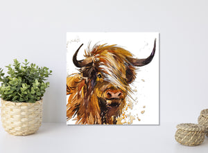 Highland Cow Watercolor Print