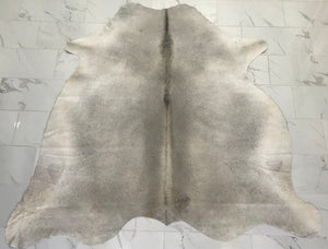 Neutral Gray Solid Cowhide Rug - U2020
