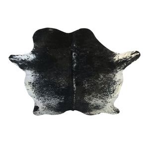 Extra Large Black and White Cowhide Rug