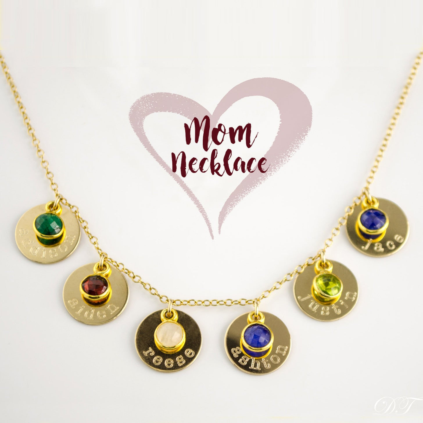 kids with s birthstone products name birthstones grandkid cascade mothers jewelry mother necklace disk danique and names