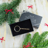 Valentine's Day Gift Christmas Gift For Him or Her or Them Black Gift Box Keychain Gift Wrapping Holiday Present Personalized Keychain