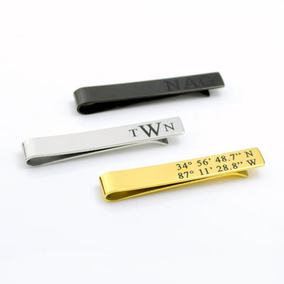 Custom Engraved Tie Clip, Photograph of Handwriting or Text