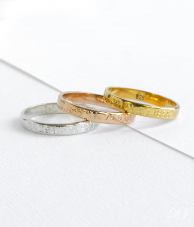 3 Metal Colors Silver Rose Gold Yellow Gold Metal Ring Bands