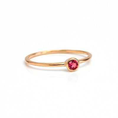 Dainty Stacking Ruby Ring : July Birthstone