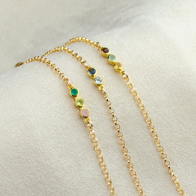 Tiny Birthstone Bar Bracelet : Available in All Birthstones