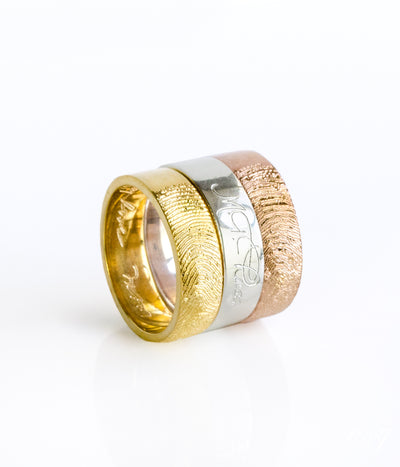 Custom Engraved Fingerband Ring - 6mm Width