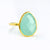 Aqua Chalcedony Teardrop Oval Ring