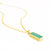 Aqua Chalcedony Vertical Bar Necklace : March Birthstone : Adira Series