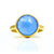 Blue Chalcedony round bezel set ring
