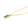 Copper Turquoise Vertical Bar Necklace : December Birthstone : Adira Series
